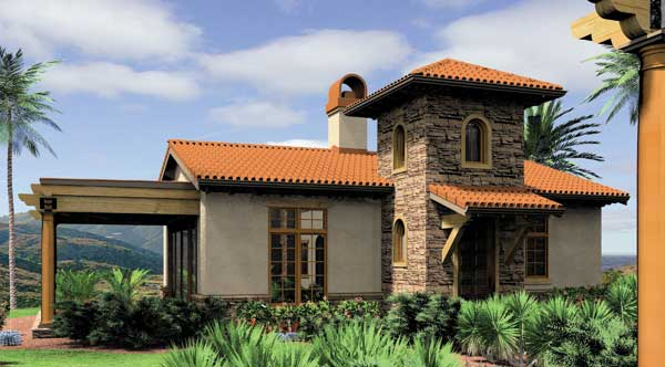 Selaro backyard home photos Spanish style modular homes